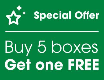 Buy 5 boxes - Get one FREE - Special offer